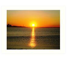 sunrising ( lake shore)... Art Print
