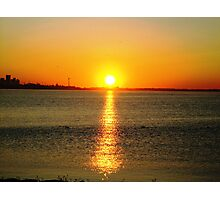 sunrising ( lake shore)... Photographic Print