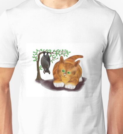 Bat is Hanging out with Kitten Unisex T-Shirt