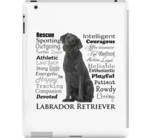 Black Lab Traits iPad Case/Skin