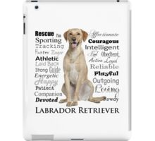 Yellow Lab Traits iPad Case/Skin