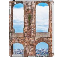Ancient aqueduct panorama iPad Case/Skin