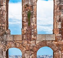 Ancient aqueduct panorama by Yevgeni Kacnelson