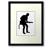 Band guitarist Framed Print