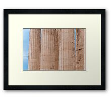 Parthenon columns Framed Print