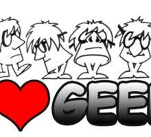 I Love Geeks Sticker