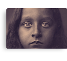 Refugee Girl Canvas Print
