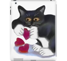 Kitten has Three Valentine Heart Catnip Toys iPad Case/Skin