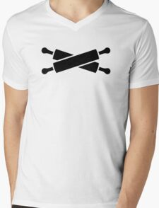 Crossed rolling pins Mens V-Neck T-Shirt
