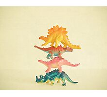 Dinosaur Antics Photographic Print