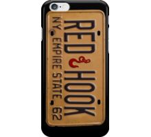 Red Hook License Plate Phone Case iPhone Case/Skin