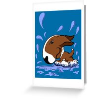 Bull Terrier Splash  Greeting Card