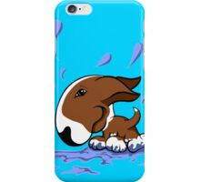 Bull Terrier Splash  iPhone Case/Skin