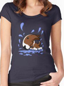 Bull Terrier Splash  Women's Fitted Scoop T-Shirt
