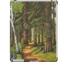 Forest road iPad Case/Skin