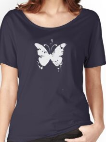 Butterfly silhouette grunge Women's Relaxed Fit T-Shirt