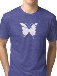Butterfly silhouette grunge Tri-blend T-Shirt