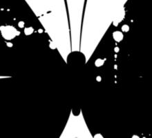 Butterfly silhouette grunge Sticker