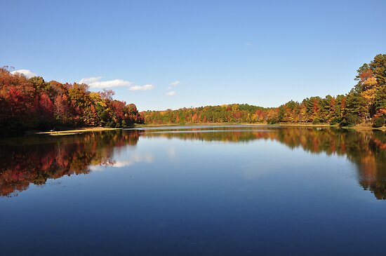 Fall Color on Crystal Lake by meinvb