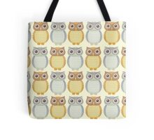 Owls In Pattern Tote Bag