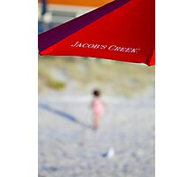 Red Brolly Photographic Print