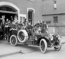 Fire Squad, 1911 by historyphoto