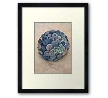 Something Blue: ButtonBelleBridal Bouquet Framed Print