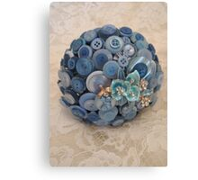 Something Blue: ButtonBelleBridal Bouquet Canvas Print