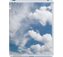 White cirrus and cumulus clouds iPad Case/Skin