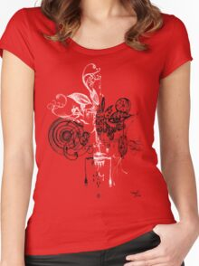 face within your face series 001 Women's Fitted Scoop T-Shirt