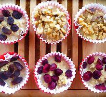 Blueberries, raisins and walnuts by JoAnnFineArt