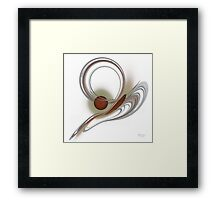 'Light Flame Abstract 104' Framed Print