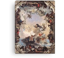 Allegory of Planets & Continents  Canvas Print