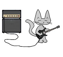 "Rock ""n"" Roll Kitty  Photographic Print"