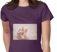 Puffy marshmallows twists on plate Womens Fitted T-Shirt