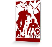 Assemble and Avenge Greeting Card