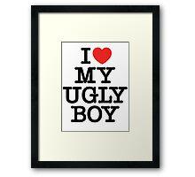Die Antwoord - I Love My Ugly Boy (black) Framed Print
