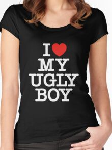 Die Antwoord - I Love My Ugly Boy (white) Women's Fitted Scoop T-Shirt