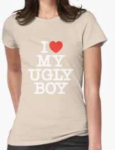 Die Antwoord - I Love My Ugly Boy (white) Womens Fitted T-Shirt