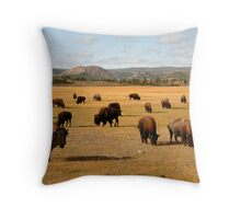 Bisons Throw Pillow