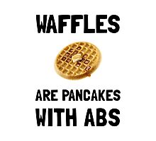 Waffles Abs Photographic Print