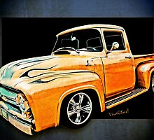 Ford Pickup In Flaming Gold by ChasSinklier