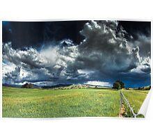 Stormclouds over Merrijig Poster
