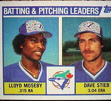 366 - Blue Jays Batting & Pitching Leaders by Foob's Baseball Cards