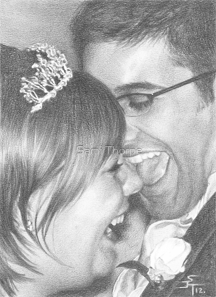 A4 Portrait Commission (The Happy Couple) by Sami Thorpe