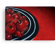 Cherries on Your Plate Canvas Print