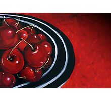 Cherries on Your Plate Photographic Print