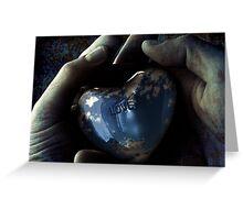 sky blue love Greeting Card