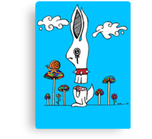 Sliced Rabbit Canvas Print