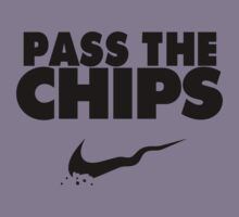 Pass the Chips - Nike Parody (Black) Kids Clothes